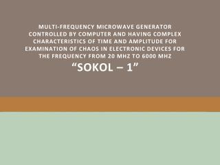 """ SOKOL-1""  Jammer"