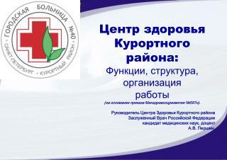 Центр здоровья Курортного района: Функции, структура, организация работы