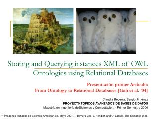 Storing and Querying instances XML of OWL Ontologies using Relational Databases
