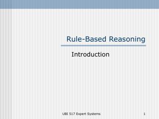 Rule-Based Reasoning