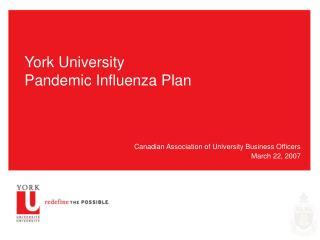 York University Pandemic Influenza Plan