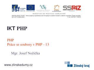 PHP Práce se soubory v PHP - 13