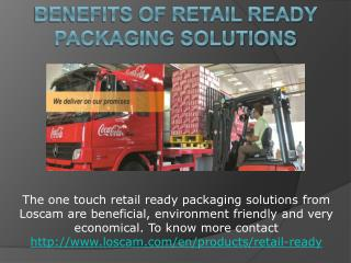 Benefits of Retail Ready Packaging Solutions
