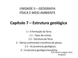 Cap�tulo 7 � Estrutura geol�gica