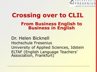 Crossing over to CLIL