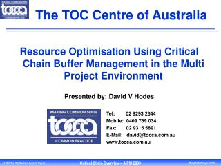 The TOC Centre  of Australia