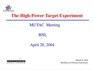 The High-Power Target Experiment