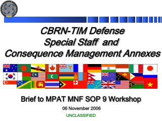 CBRN-TIM Defense Special Staff Annex