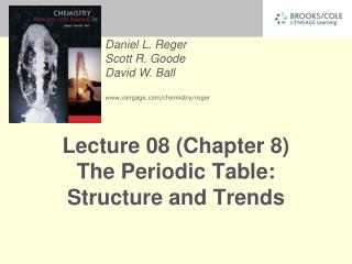 Lecture 08 (Chapter 8) The Periodic Table: Structure and Trends