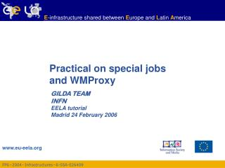 Practical on special jobs and WMProxy