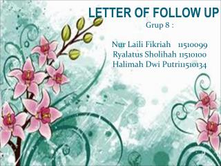 LETTER OF FOLLOW UP