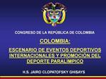 CONGRESO DE LA REP BLICA DE COLOMBIA