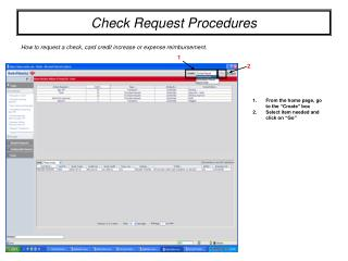 Check Request Procedures
