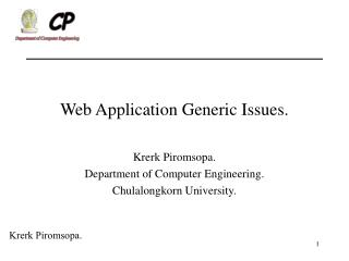 Web Application Generic Issues.