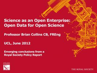 """Open data as the engine of  the """"scientific revolution"""""""