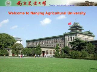 Welcome to Nanjing Agricultural University