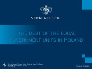 The  d ebt of the local government units in Poland