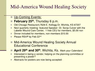 Mid-America Wound Healing Society