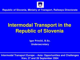 Intermodal Transport in the Republic of Slovenia