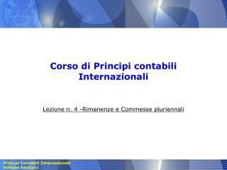 Corso di Principi contabili Internazionali