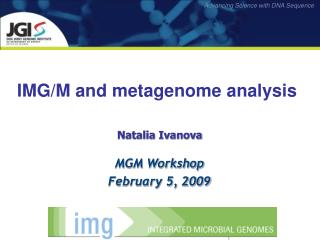 IMG/M and metagenome analysis