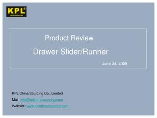 Drawer Slider
