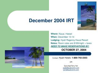 December 2004 IRT