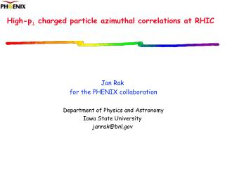 High-p ?  charged particle azimuthal correlations at RHIC