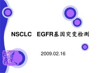 NSCLC   EGFR 基因突变检测