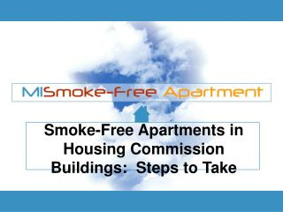 Smoke-Free Apartments in Housing Commission Buildings:  Steps to Take