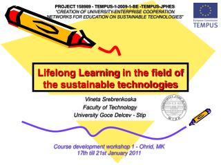 Lifelong Learning in the field of the sustainable technologies