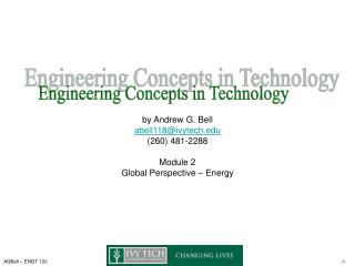 Engineering Concepts in Technology