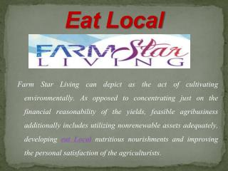 Great Agricultural Resources to the Farm