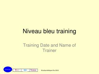 Niveau bleu training
