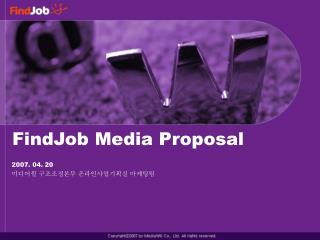 FindJob Media Proposal