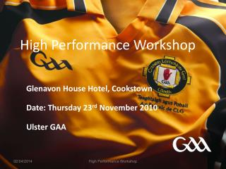High Performance Workshop