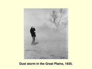 Dust storm in the Great Plains, 1935.