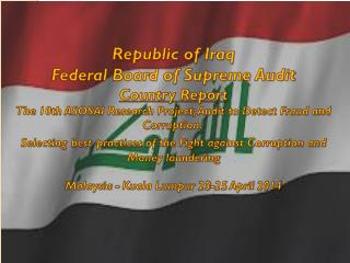 Republic of Iraq Federal Board of Supreme Audit Country Report