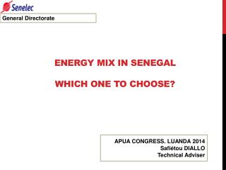 ENERGY  MIX  IN SENEGAL WHICH ONE TO CHOOSE?