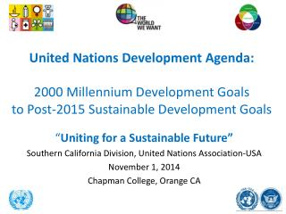 """ Uniting  for a Sustainable Future"""