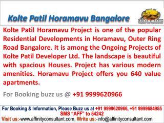 kolte patil horamavu new project bangalore @ 09999620966