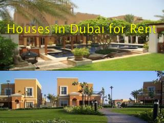 Houses in Dubai for Rent.