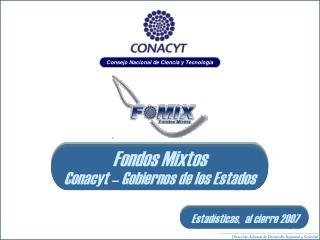 Situación Fondos Mixtos CONACyT - Gobiernos  de los Estados