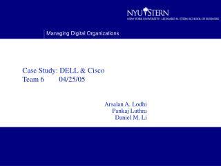 Case Study: DELL & Cisco   Team 6        04/25/05