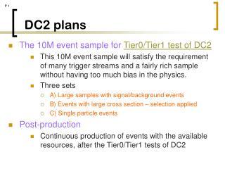 DC2 plans