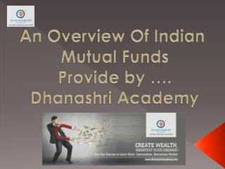 History of Indian Mutual Fund