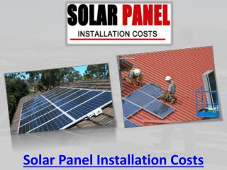 Solar Panel Installation Costs