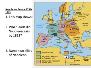 Napoleonic Europe 1799-1815