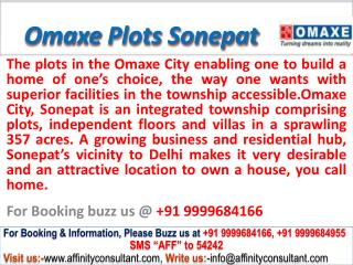 Omaxe new Plots nh 1 sonepat @ 09999684166