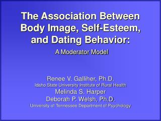 The Association Between Body Image, Self-Esteem, and Dating Behavior: A Moderator Model